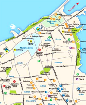 Bahrain Map Map of Manama Bahrain Manama city map